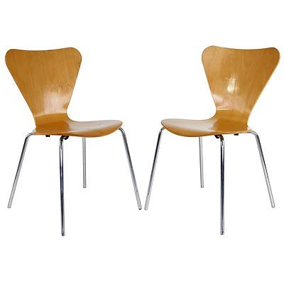 Set of Ten Arne Jacobsen Style Chairs