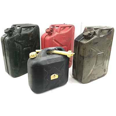 Four Fuel Containers