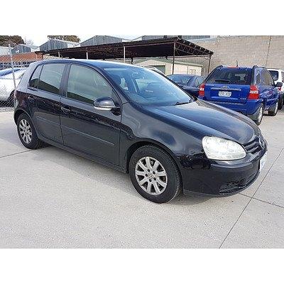 9/2005 Volkswagen Golf 2.0 TDI Comfortline 1K 5d Hatchback Black 2.0L
