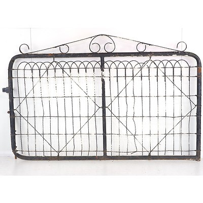 Pair of Vintage Wrought Iron Gates from Miner's Cottage Circa 1920's