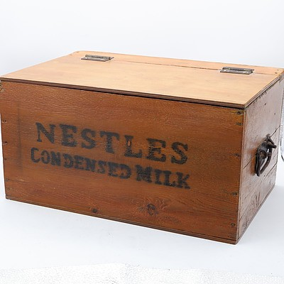 Nestles Condensed Milk Pine and Ply Shoe Shine Box