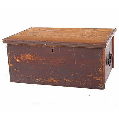 Antique Oregon Trunk with Iron Handles