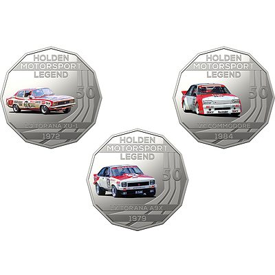 2018 50c Uncirculated Coin - The Peter Brock Collection - 3 Pieces