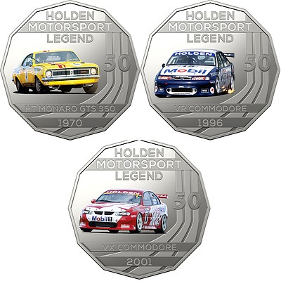 2018 50c Uncirculated Coin - The Holden Collection - 3 Pieces