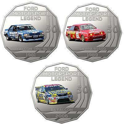 2018 50c Uncirculated Coin - The Ford Collection - 3 Pieces