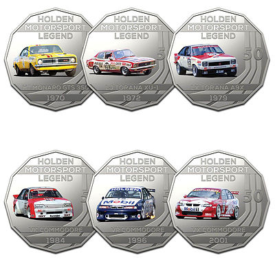 2018 50c Uncirculated Coin - The Holden Collection - 6 Pieces