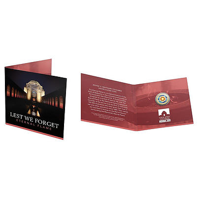 RAM Lest We Forget Eternal Flame 2018 $2 C Mintmark Coloured Uncirculated Coin