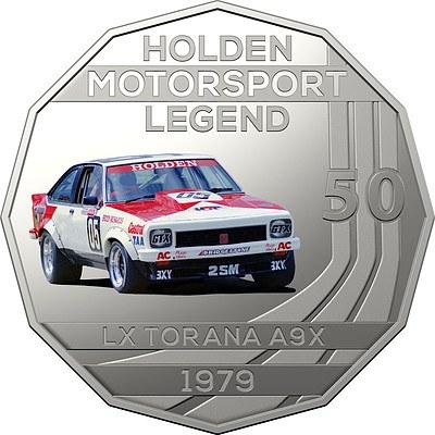 2018 50c Uncirculated Coin - 1979 Holden LX Torana A9X Peter Brock