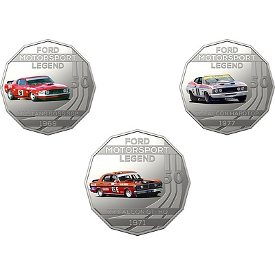 2018 50c Uncirculated Coin - The Allan Moffat Collection - 3 Pieces