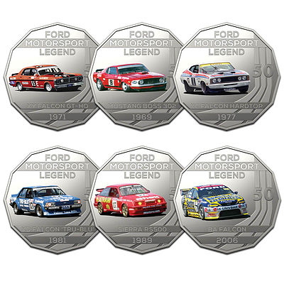 2018 50c Uncirculated Coin - The Ford Collection - 6 Pieces