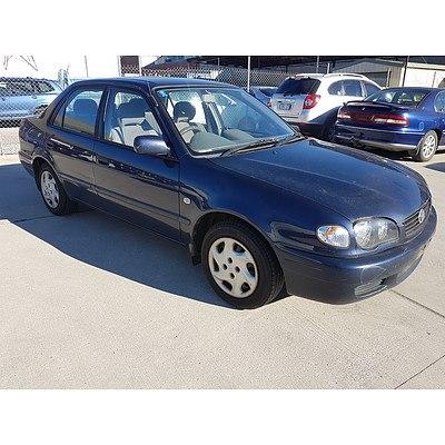 11/1999 Toyota Corolla Conquest AE112R 4d Sedan Blue 1.8L