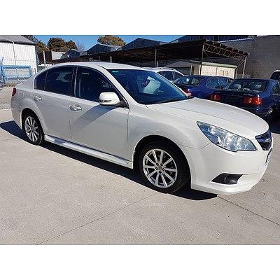5/2011 Subaru Liberty 2.5i MY11 4d Sedan Pearl White 2.5L