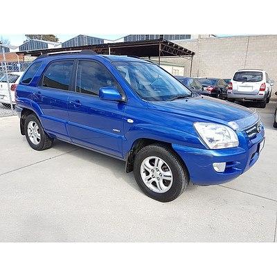 10/2007 Kia Sportage EX (4x4) KM 4d Wagon Blue 2.0L