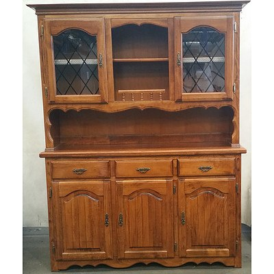 Stained Pine Kitchen Cabinet