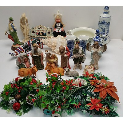 Selection of Ornaments and Christmas Decorations
