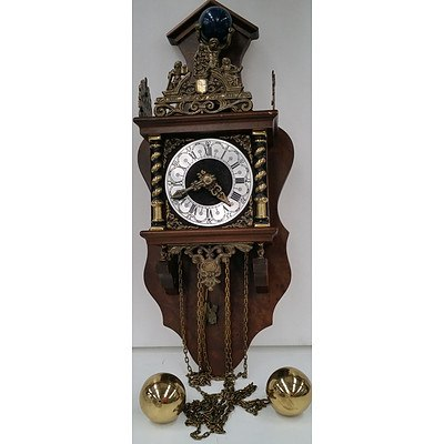 Dutch Zaanse Chain Driven Wall Clock