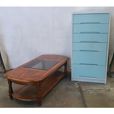 Chest of Drawers, Outdoor Dining Suite, Coffee Table and Various Other Furniture