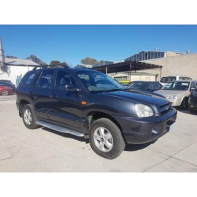 6/2006 Hyundai Santa Fe (4x4) 4d Wagon Blue 2.7L