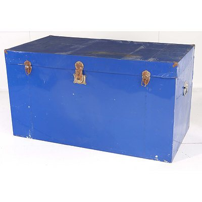 Blue Metal Trunk