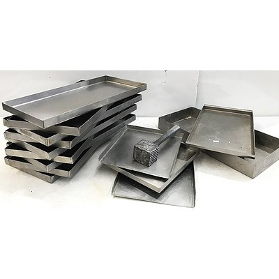 Stainless Steel Trays & Mantova Meat Hammer