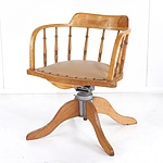 Vintage Oak Captain's Chair