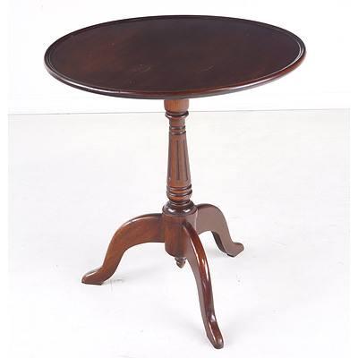 Small Victorian Style Mahogany Wine Table Circa 1960