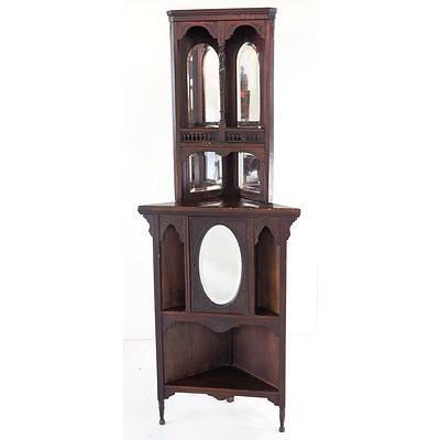 Late Victorian Corner Cabinet Circa 1890-1900