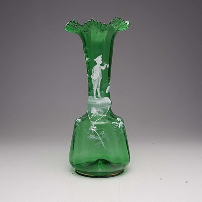 Victorian Mary Gregory Glass Vase