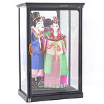 Pair of Korean Dolls in Custom Display Box