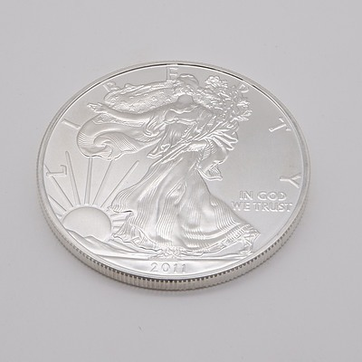 2011 United States of America 1 oz Fine Silver $1 One Dollar Coin