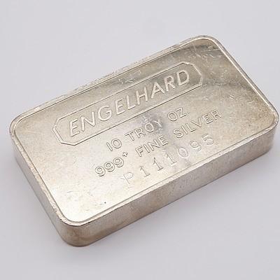 Engelhard 10 Troy Oz .999 Fine Silver