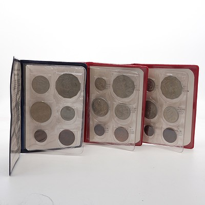 1969, 1971 and 1972 RAM Wallet Uncirculated Coin Sets