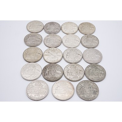 Nineteen Australian George VI Silver Florins