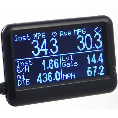 UltraGauge Multifunction OBD2 Scan Tool and Control Screen