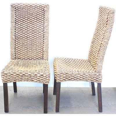 Timber Dining Chairs - Lot of Two