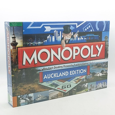 Two Monopoly Board Games Including Platinum Edition and Auckland Edition