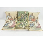 Six Peter Rabbit Themed Pillows