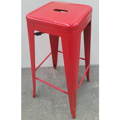 Metal Cafe Stools - Lot of Seven
