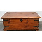Vintage Stained Timber Toy Chest