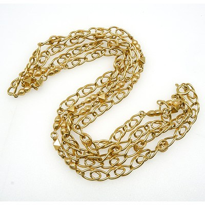 18ct Yellow Gold Hollow Curb Link Chain, 39g
