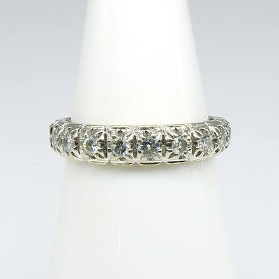 18ct White Gold Eternity Ring With Nine Brilliant Cut Diamonds