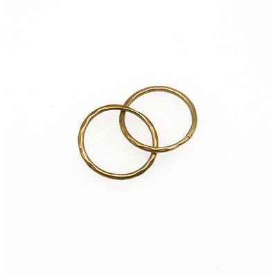 9ct Yellow Gold Facetted Sleepers