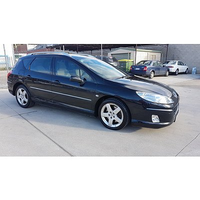 12/2005 Peugeot 407 ST Touring Executive  4d Wagon Black 2.2L