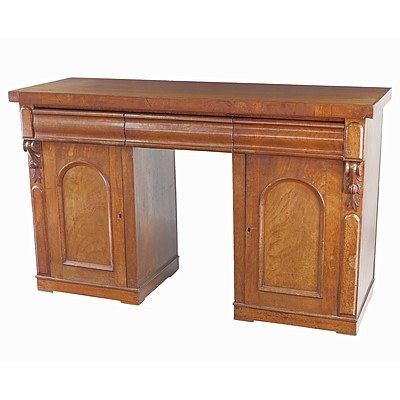 Australian Cedar Pedestal Sideboard Circa 1880
