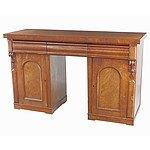 Late Victorian Mahogany Pedestal Sideboard Circa 1880