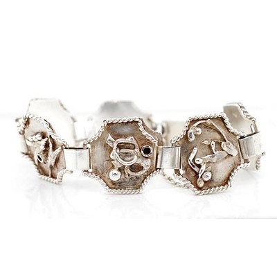 Sterling Silver Arts & Crafts Bracelet