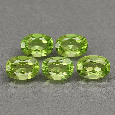 Natural Peridots Facetted Ovals