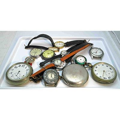 Collection Of Pocket & Wrist Watches, For Restoration Or Parts