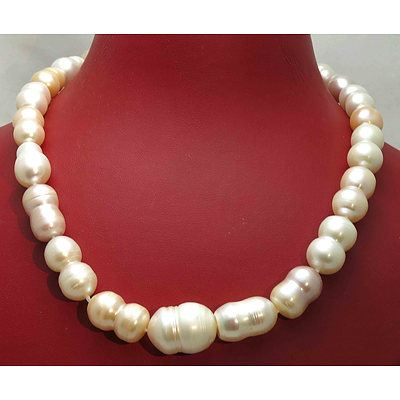 Pearl Necklace - Extra Large Fresh-Water Cultured Pearls