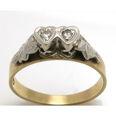 Vintage Diamond Ring - 18Ct Gold